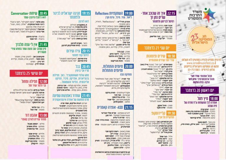 Festival Musique Israélienne 2020