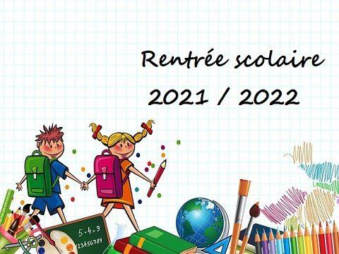 rentrée scolaire 2021 2022